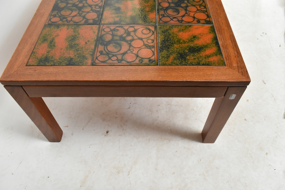 THICH; a mid-20th century Danish teak coffee table, ofrectangular form inset with eighteen - Image 3 of 5