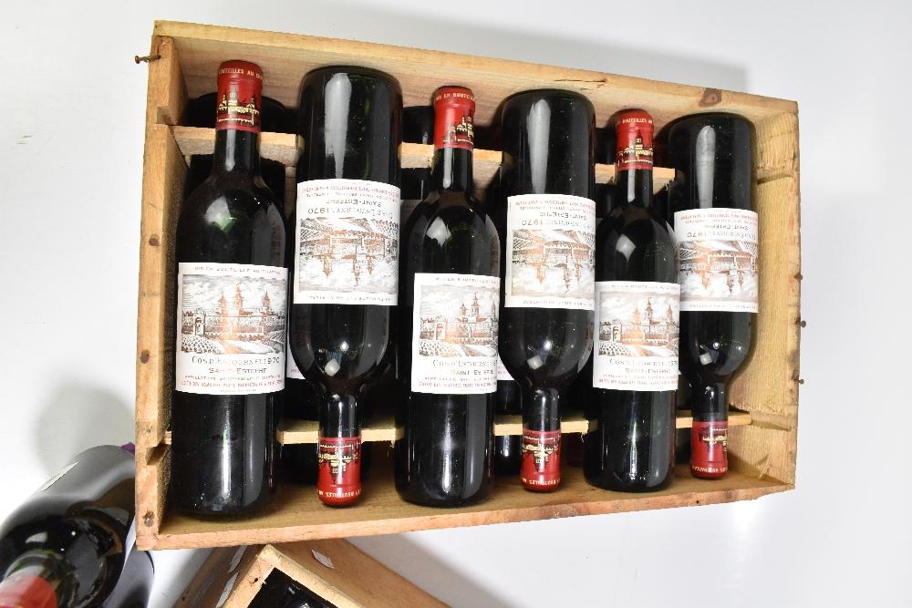 FRANCE; two cases of twelve 1970 Cos D'Estournel Saint-Estèphe bottles of red wine, 75cl (24). - Image 4 of 16