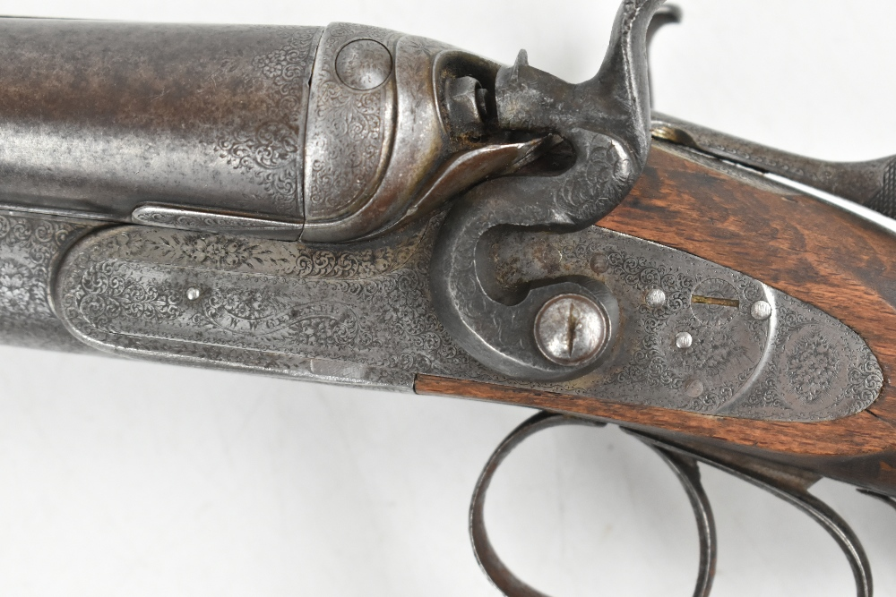 """W.W. Greener; a 12 bore side-by-side hammer gun, the 30"""" barrels with 2.5"""" chambers and mounted with - Image 9 of 12"""