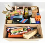 A collection of predominantly boxed haulage and similar vehicles including a large Ertl Truck and