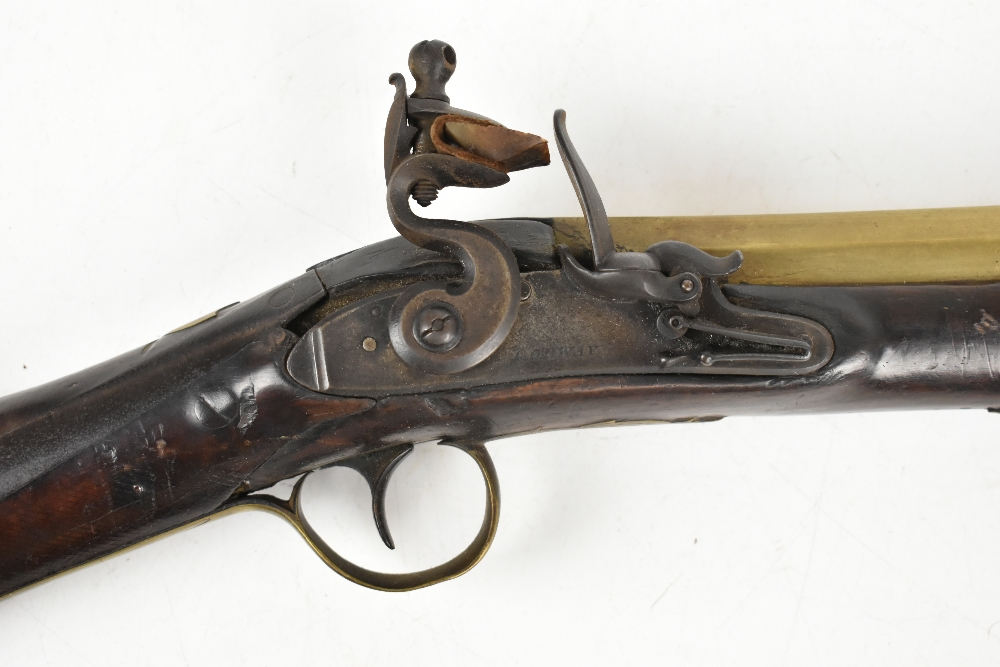 CONWAY; a 19th century brass barrelled blunderbuss, inscribed maker's name to the lock plate, the - Image 3 of 14