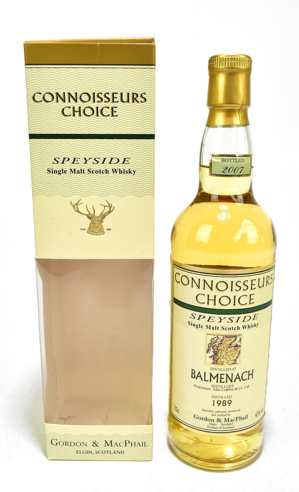 WHISKY; a single bottle of Balmenach 18 years old Speyside single malt Scotch whisky, distilled 1989