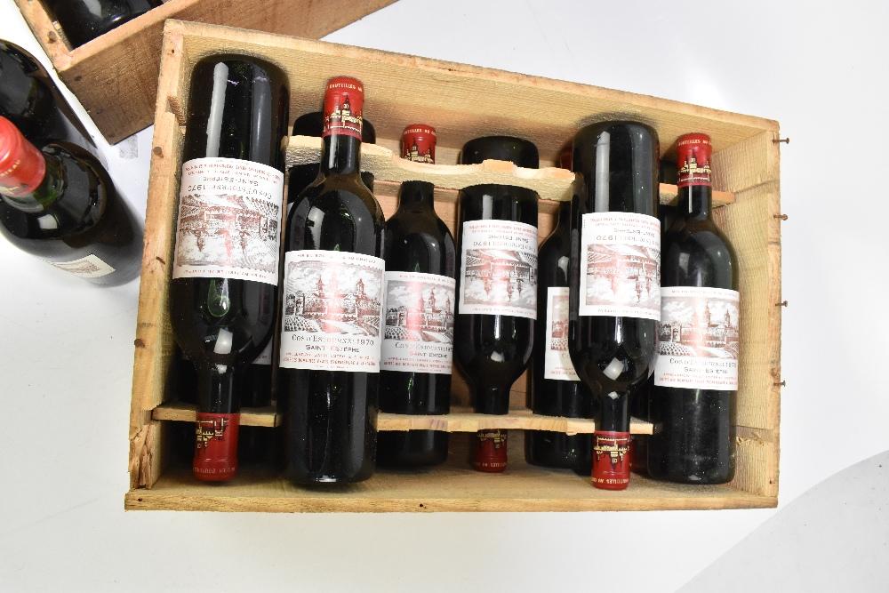 FRANCE; two cases of twelve 1970 Cos D'Estournel Saint-Estèphe bottles of red wine, 75cl (24). - Image 3 of 16