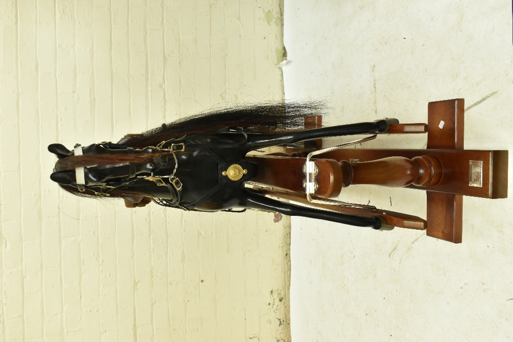 STEVENSON BROTHERS; a good and rare 'Churchill's Charger' rocking horse, in English oak with - Image 7 of 11