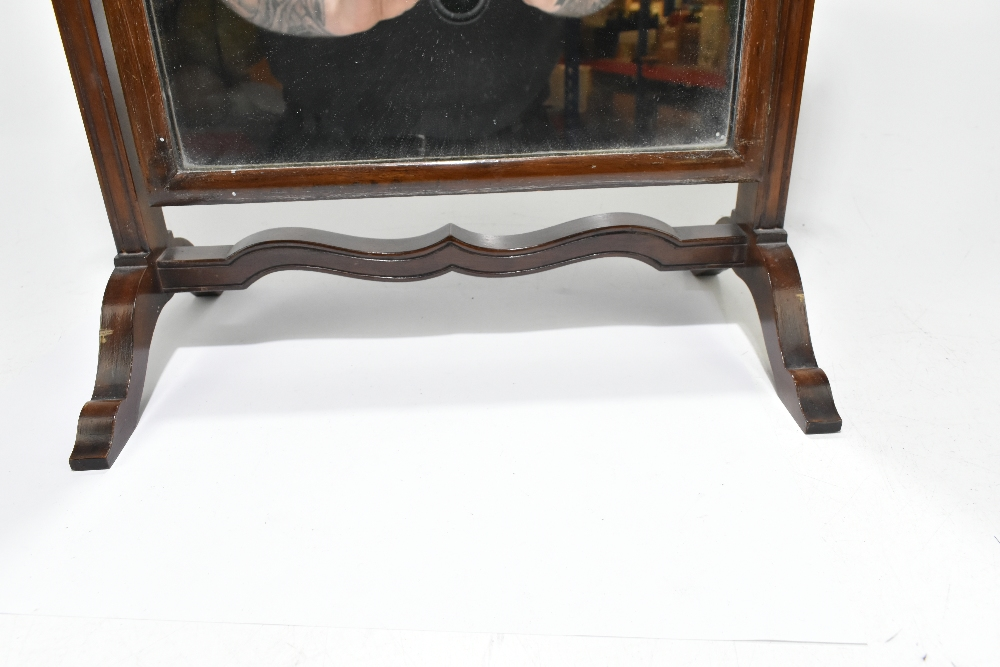 An early 20th century mahogany swing toilet mirror, height 59cm, width 38cm. - Image 2 of 4