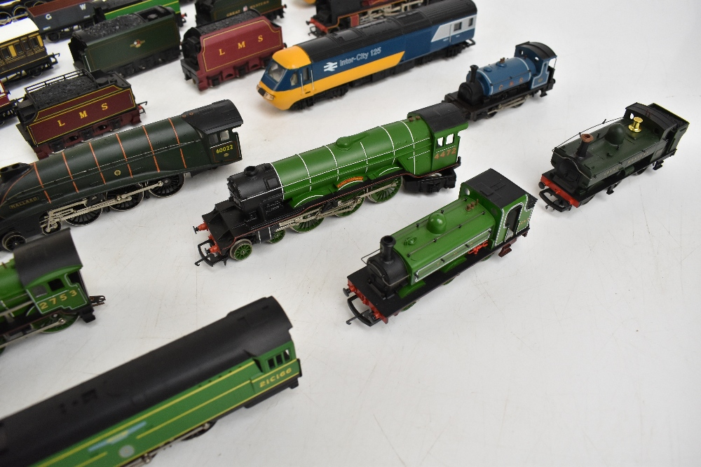 HORNBY; a group of loose model railway comprising sixteen various sized locomotives including - Image 5 of 10
