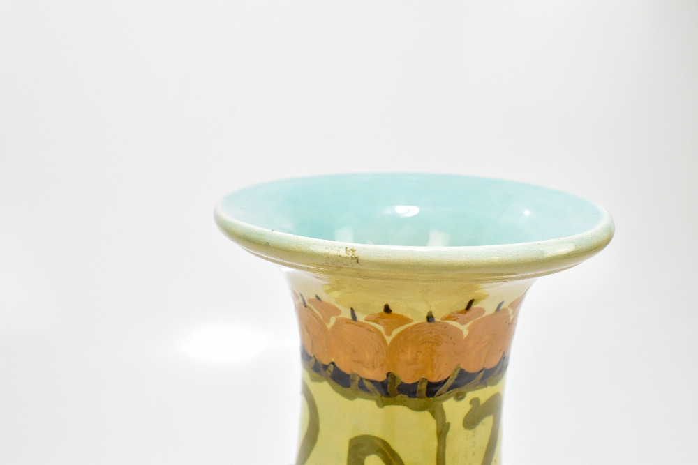 CLARISSA AULT FOR AULT POTTERY; a late 19th century Arts & Crafts ceramic vase with stylised floral - Image 5 of 8