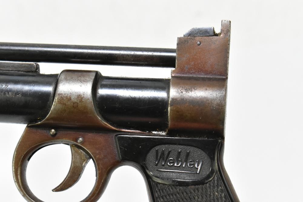 A Webley Junior .177 air pistol with bakelite grips, length 20cm. Provenance: The Captain Allan - Image 4 of 4