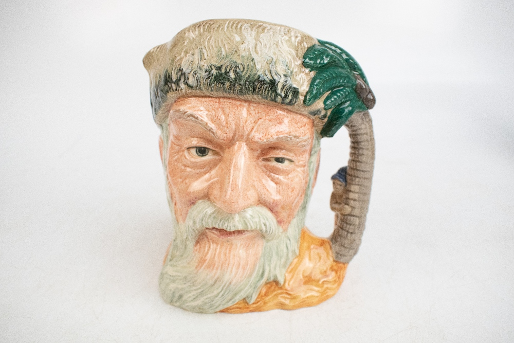 ROYAL DOULTON; seven characters from literature themed character jugs, comprising D6529 'Merlin', - Image 3 of 8
