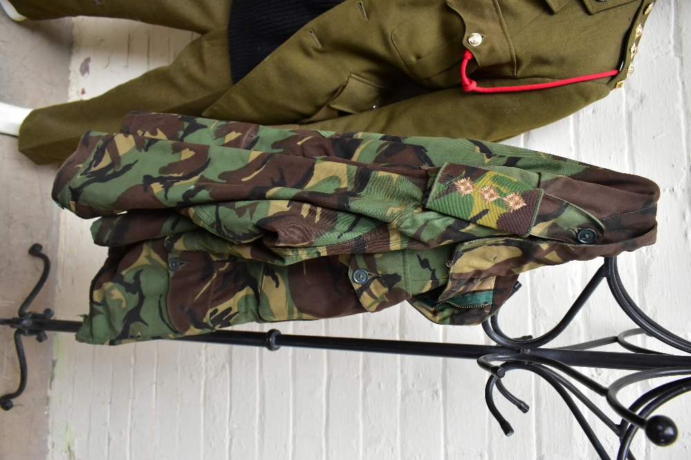 A No.2 dress military tunic with buttons and Tank Corps badges and trousers displayed on a mannequin - Image 7 of 9