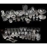 A quantity of assorted cut and moulded glassware to include various bowls, a tapering vase,