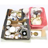 A collection of assorted ceramics to include Wedgwood, jasperware, plaques, twin handled lidded