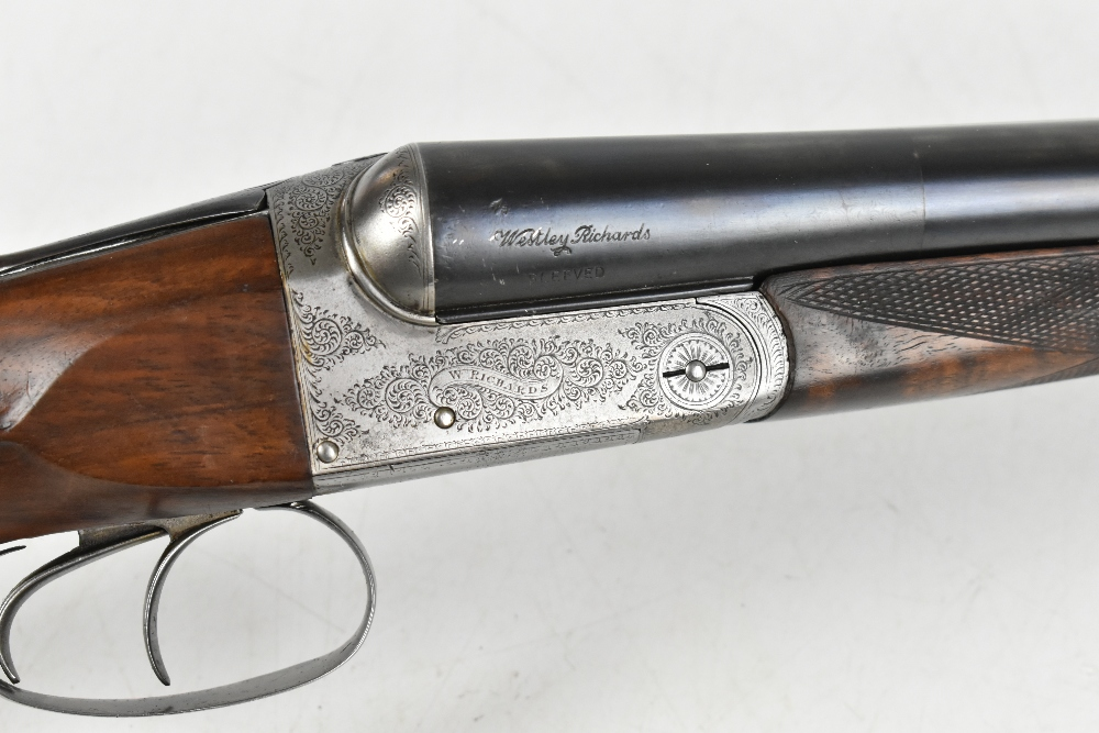 """W. RICHARDS; a 12 bore side-by-side boxlock double trigger non-ejector shotgun, the 28"""" sleeved - Image 4 of 15"""