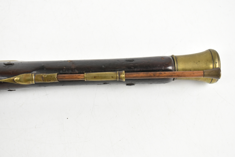 CONWAY; a 19th century brass barrelled blunderbuss, inscribed maker's name to the lock plate, the - Image 14 of 14