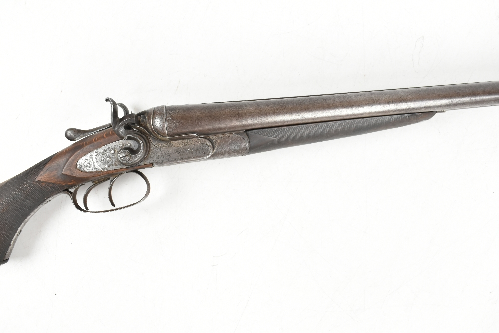 """W.W. Greener; a 12 bore side-by-side hammer gun, the 30"""" barrels with 2.5"""" chambers and mounted with - Image 3 of 12"""