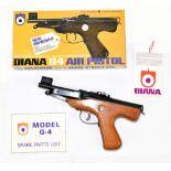 A boxed Diana G4 .177 Mk IV break barrel air pistol in original box with paperwork, length 28cm.