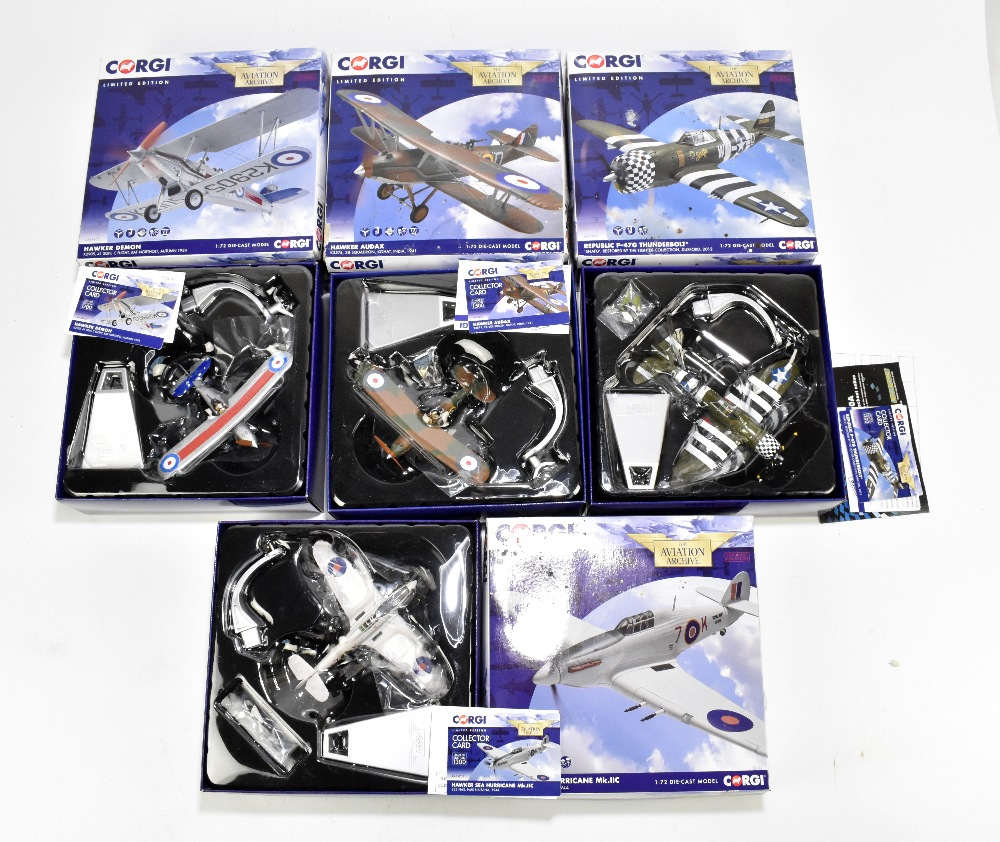 CORGI; four boxed limited edition Aviation Archive models comprising AA33825 Republic P-47G