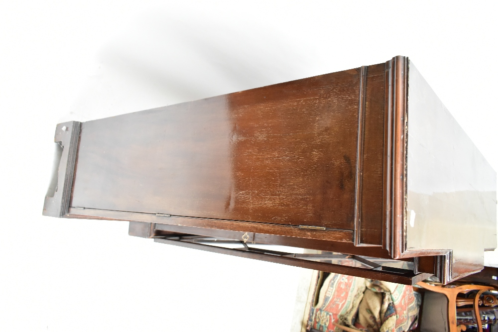 A late 19th century breakfront bookcase, the three astragal glazed doors enclosing adjustable - Image 2 of 4