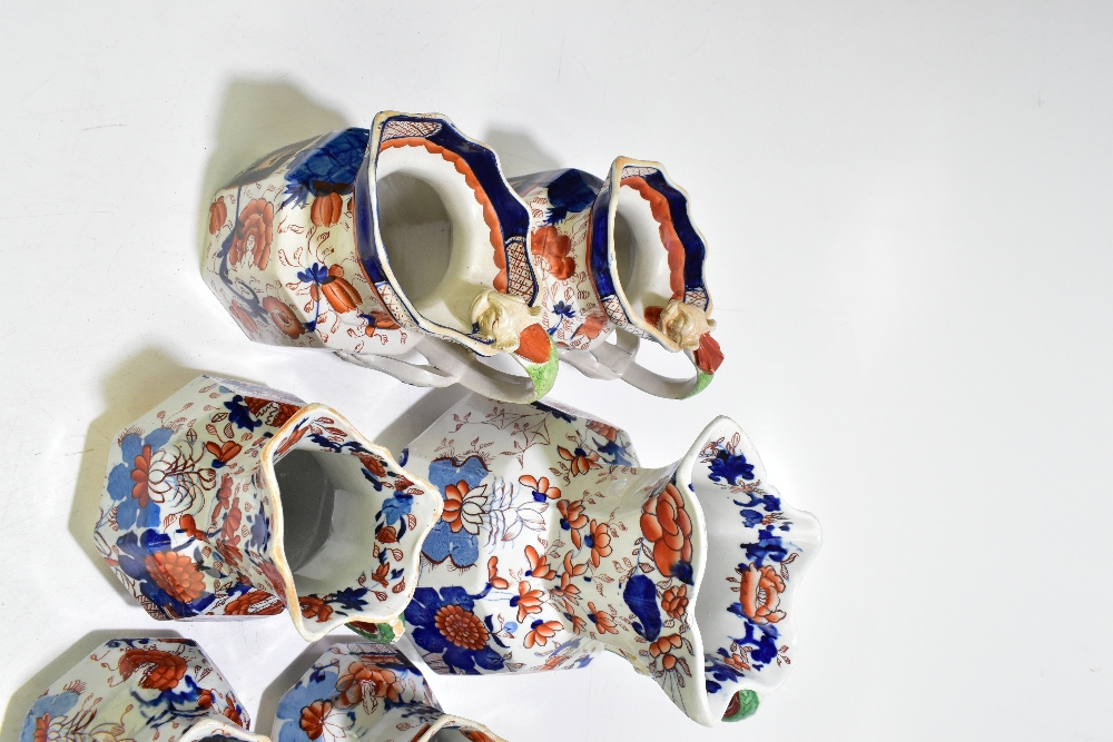 Thirteen assorted 19thcentury and later ironstone jugs, each decorated in the Imari palette, height - Image 2 of 9