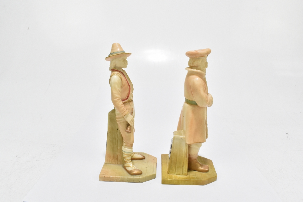 ROYAL WORCESTER; two figures emblematic of countries modelled by James Hadley comprising Russia, - Image 2 of 5