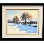 JAMES PRESTON; oil on canvas, 'Snow Scene', signed lower left, 45 x 60cm, framed. (D) Additional
