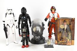 SCI-FI; a group of sci-fi themed models including Alien 25th Anniversary quadrilogy head, Movie