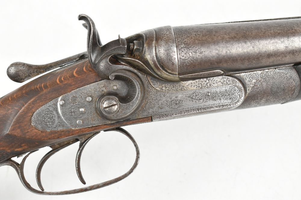 """W.W. Greener; a 12 bore side-by-side hammer gun, the 30"""" barrels with 2.5"""" chambers and mounted with - Image 6 of 12"""