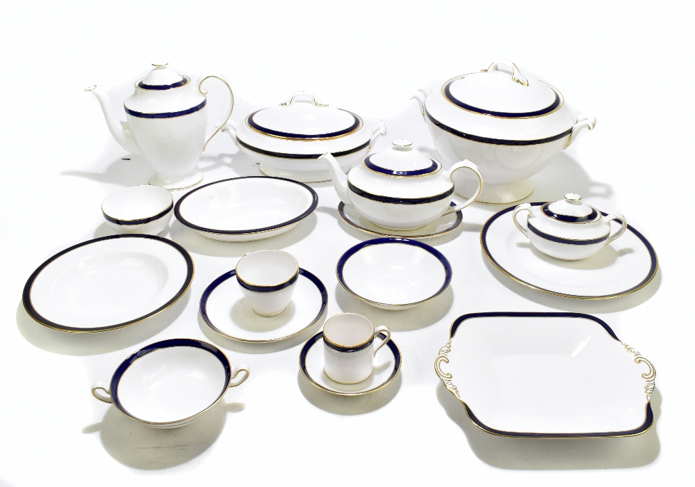 SPODE; an extensive tea and dinner service in the 'Consul Cobalt' pattern, approximately 208