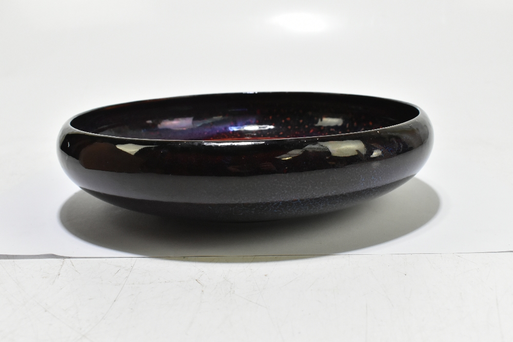ROYAL DOULTON; an unusual flambé bowl of circular form with floral detail to the centre, diameter - Image 2 of 5