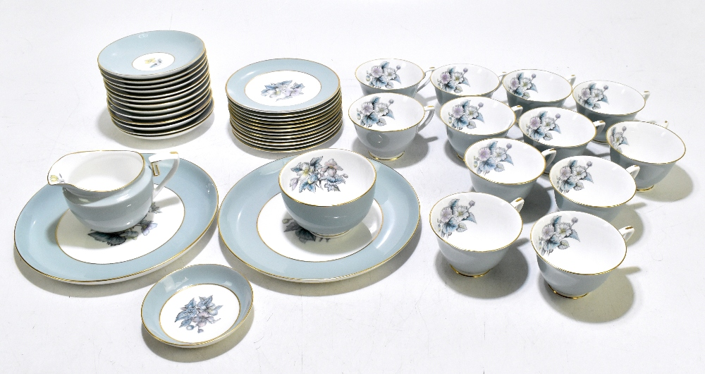 ROYAL WORCESTER; a forty two piece 'Woodland' pattern part tea service comprising twelve cups,