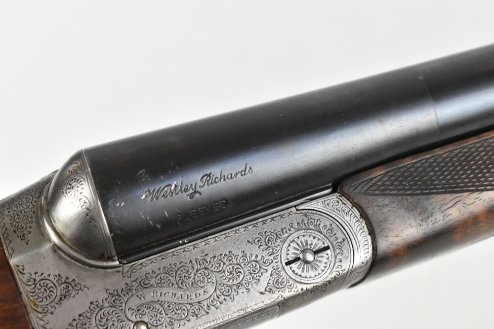 """W. RICHARDS; a 12 bore side-by-side boxlock double trigger non-ejector shotgun, the 28"""" sleeved - Image 13 of 15"""