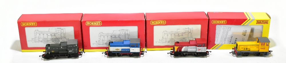 HORNBY; four boxed diesel shunter locomotives comprising R2783 BR 0-4-0 Class 06, R2188 BR 0-4-0