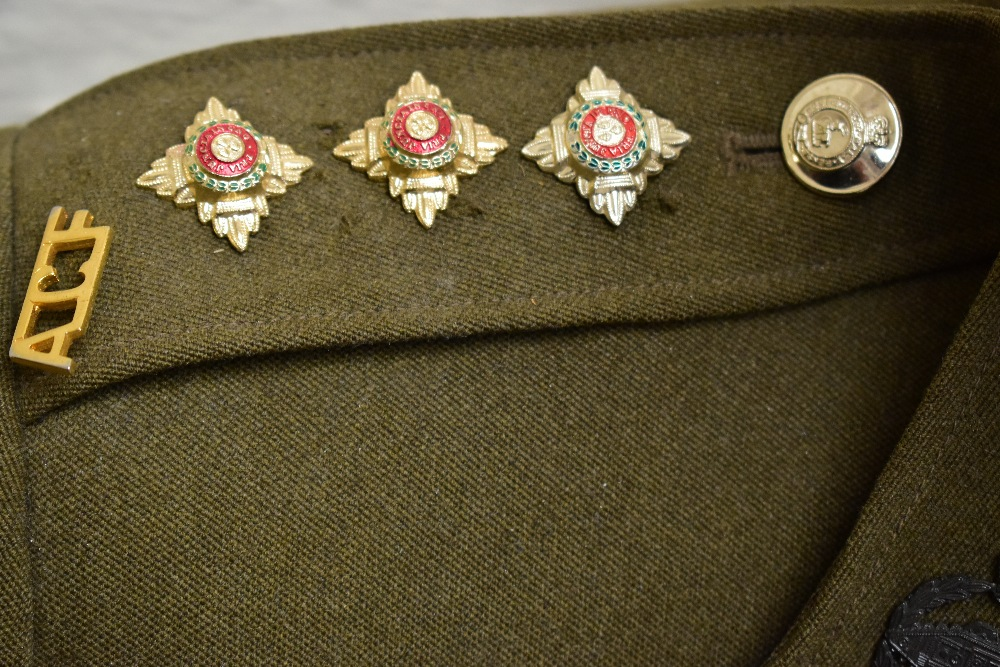 A No.2 dress military tunic with buttons and Tank Corps badges and trousers displayed on a mannequin - Image 5 of 9