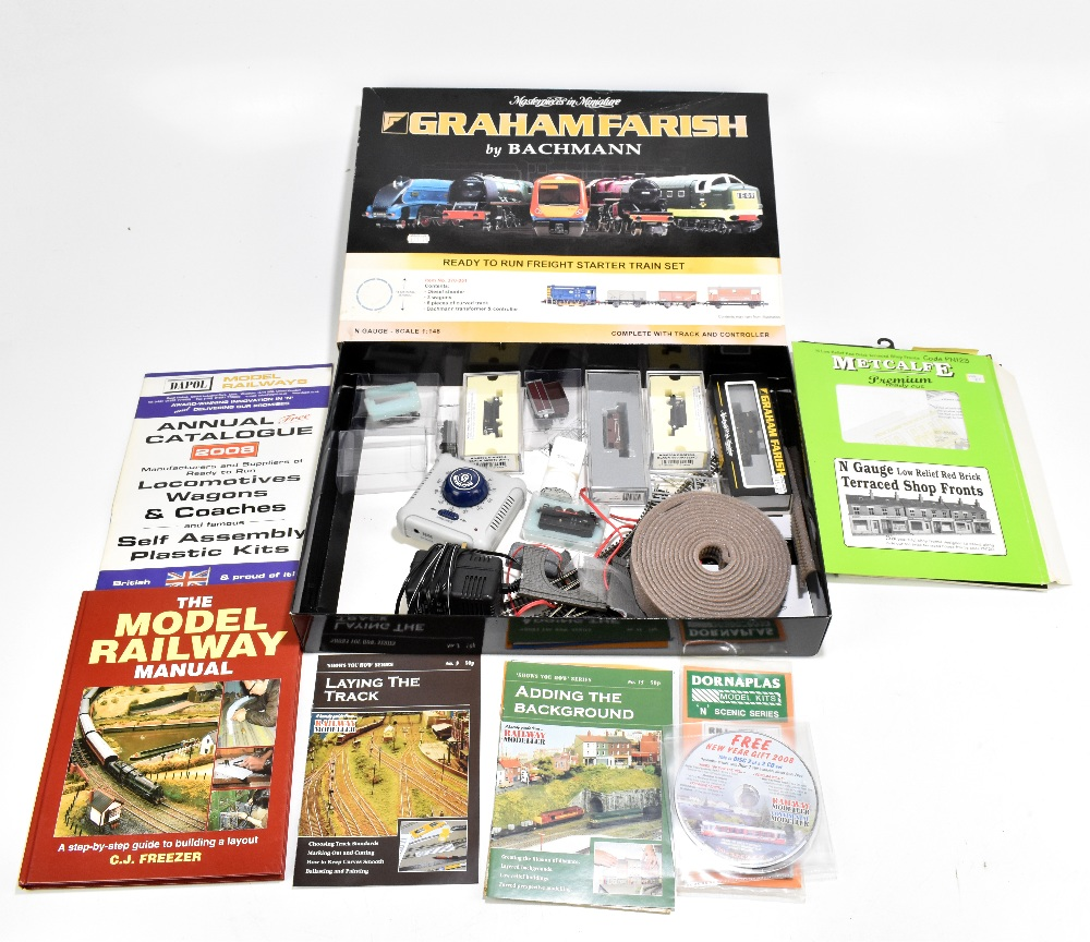 GRAHAM FARISH BY BACHMANN; a boxed Ready to Run Freight Starter Train Set, also additional BR