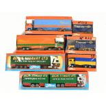 TEKNO; seven boxed models comprising Scania LB140, Volvo F89, Scania LBS141, Scania LBS140 and three