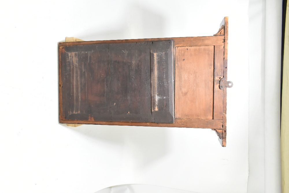 A Continental inlaid mahogany pier glass with central bevelled plate, height 67cm, width 37cm. - Image 2 of 2