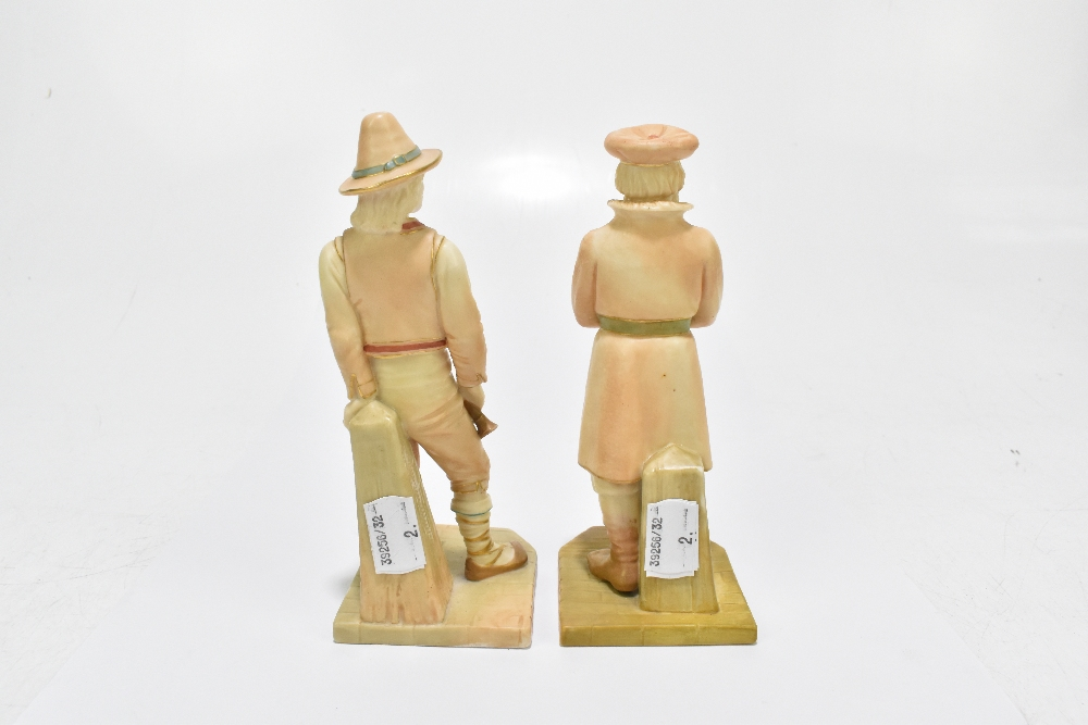 ROYAL WORCESTER; two figures emblematic of countries modelled by James Hadley comprising Russia, - Image 3 of 5