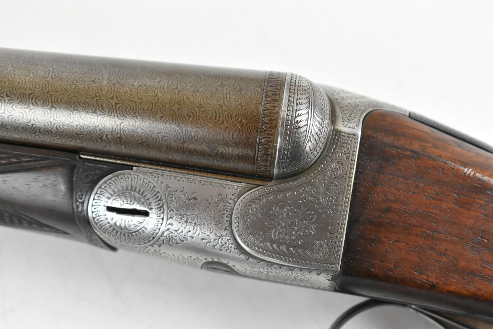 HOLLAND & HOLLAND; a Hollands Patent No.134 12 bore side-by-side double trigger boxlock non- - Image 9 of 13
