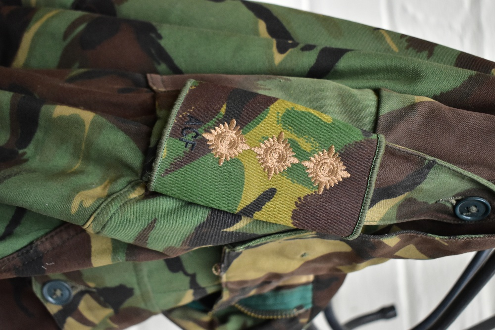 A No.2 dress military tunic with buttons and Tank Corps badges and trousers displayed on a mannequin - Image 8 of 9