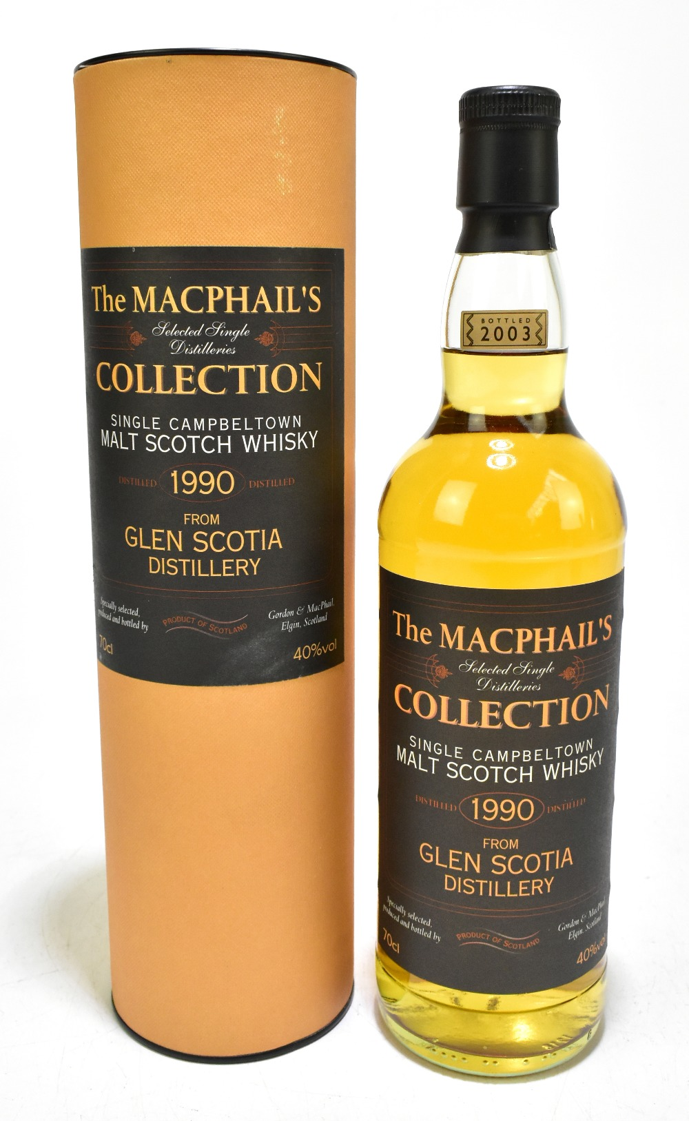 WHISKY; a single bottle of Glen Scotia aged 13 years single Campbeltown malt Scotch whisky,