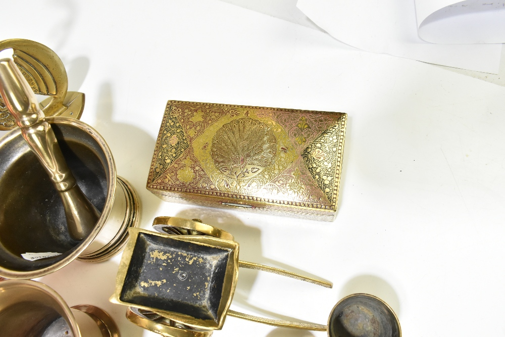 A collection of 19th century and later copper, pewter and other metalwareincluding a copper half - Image 4 of 7