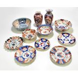A collection of 19thcentury and later Japanese Imari porcelain and a bowl of circular form with