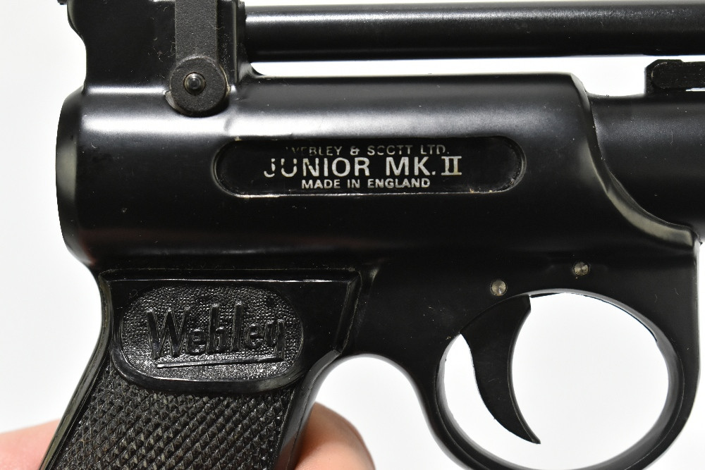 A boxed Webley .177 Junior Mk II air pistol, length 20cm, SN:743. Provenance: The Captain Allan - Image 4 of 9