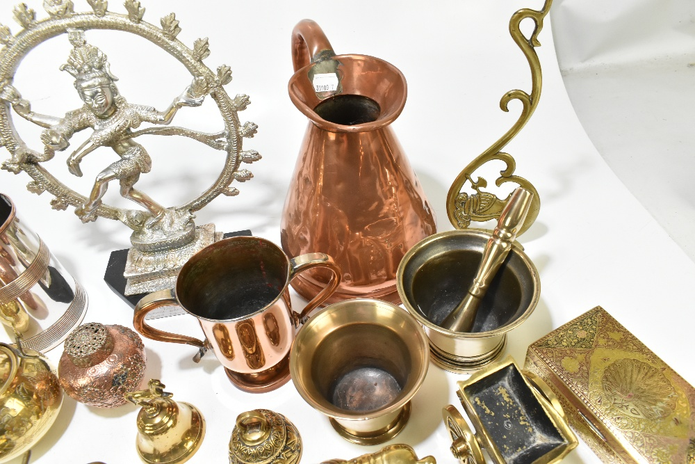A collection of 19th century and later copper, pewter and other metalwareincluding a copper half - Image 5 of 7