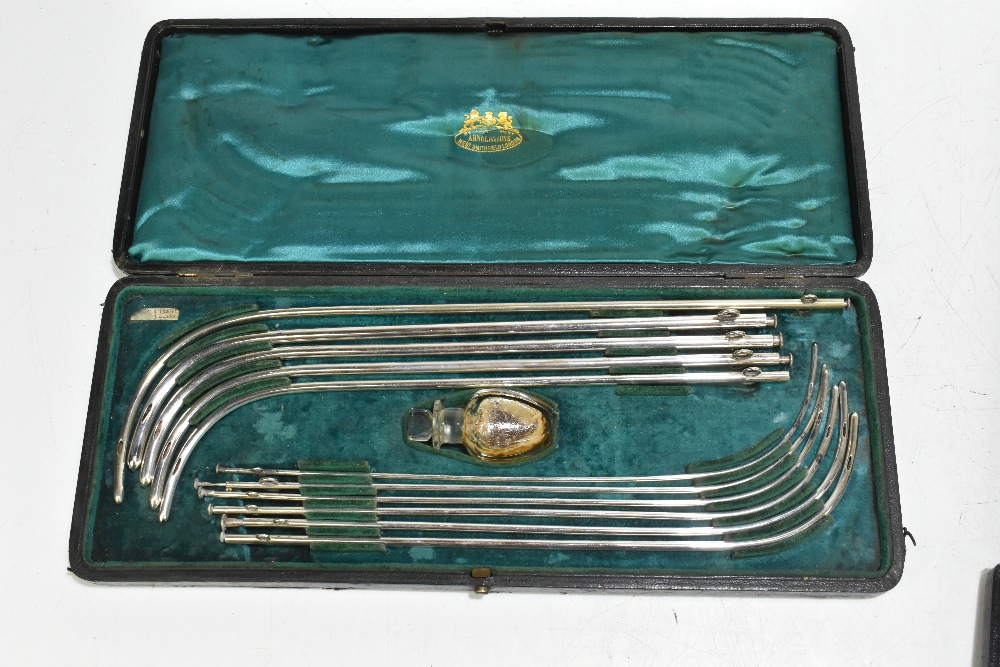 ARNOLD & SONS LONDON; a stainless steel cased catheter set, together with a smaller cased example, - Image 4 of 5