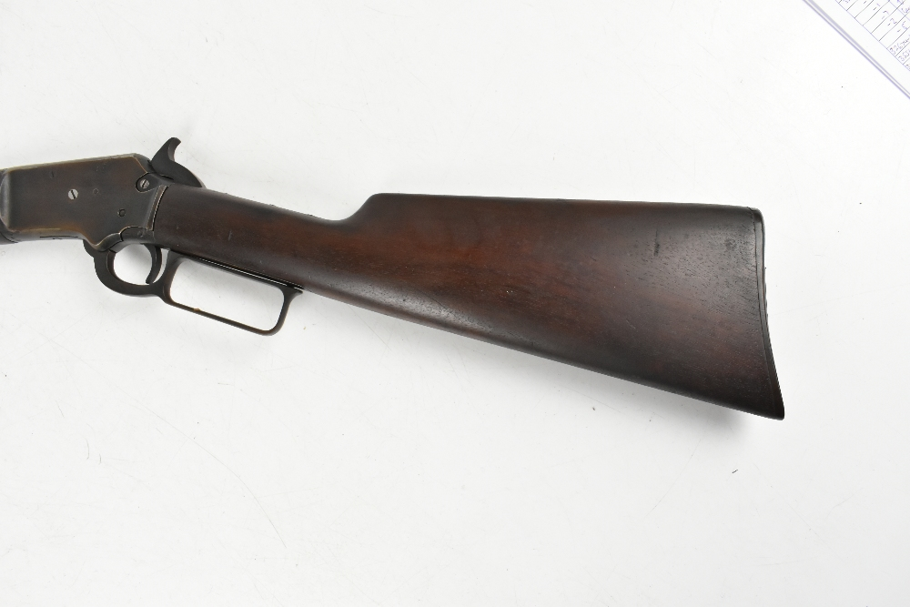 MARLIN; a Model 97 .22 RF underlever rifle, SN:424676. Provenance: The Captain Allan Marshall - Image 7 of 12