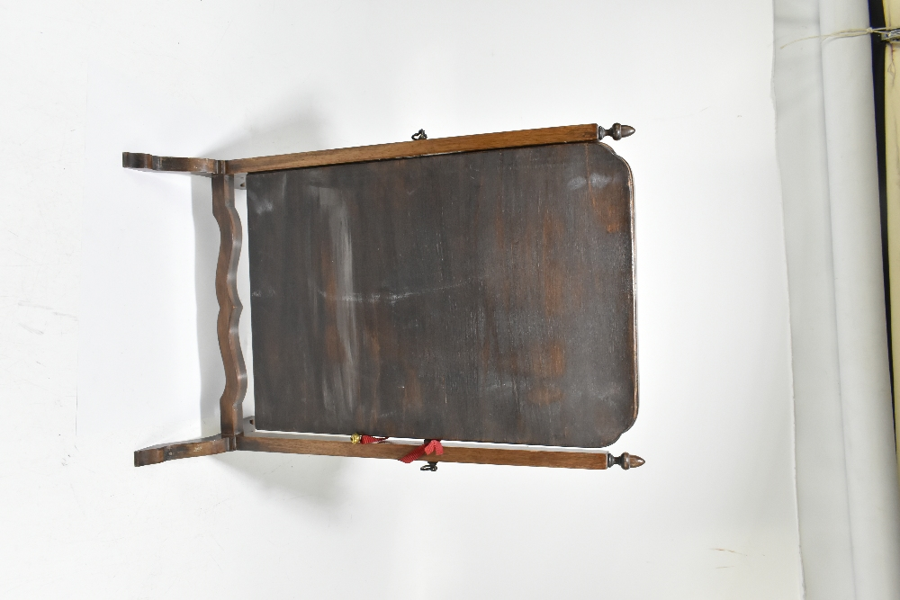 An early 20th century mahogany swing toilet mirror, height 59cm, width 38cm. - Image 4 of 4