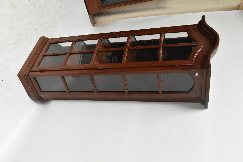 A reproduction display cabinet with glazed door and side panels enclosing four shelves, height 188. - Image 3 of 4