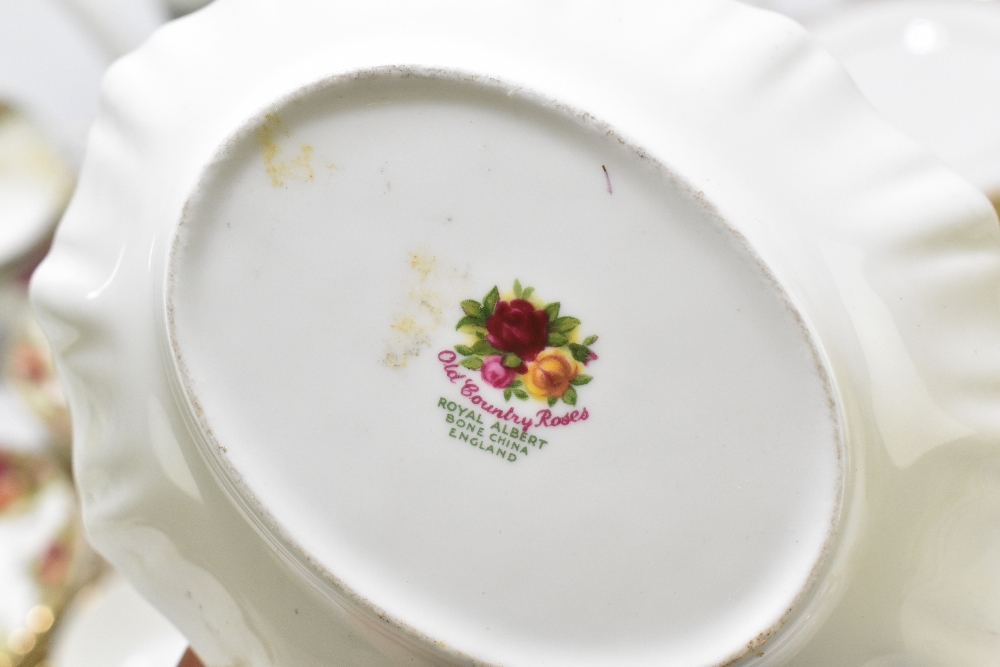 ROYAL ALBERT; a twenty piece part tea set decorated in the 'Old Country Roses' pattern, aRoyal - Image 4 of 7