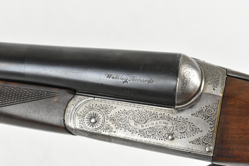 """W. RICHARDS; a 12 bore side-by-side boxlock double trigger non-ejector shotgun, the 28"""" sleeved - Image 15 of 15"""